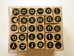 Stempel kleine Buchstaben