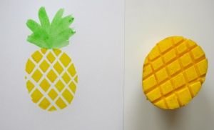 Ananas - Kartoffelprint